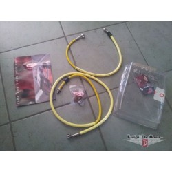 Suzuki RM 250 Kit completo tubi freno aeronautici in treccia metallica
