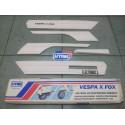 Modanature Paracolpi FOX Vespa PK 50 / 125  - 5 pezzi!