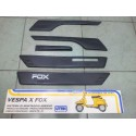 Modanature Paracolpi FOX Vespa PK XL 50 / 125  - 5 pezzi! NERI