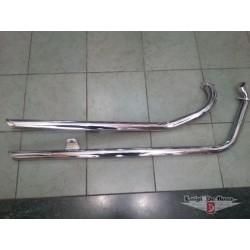 Silenziatori cromati marmitte Busso Suzuki VS Intruder 600/750/800