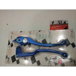 Coppia leve freno / frizione Honda CBR 600 RR 2003/2006 alluminio blu